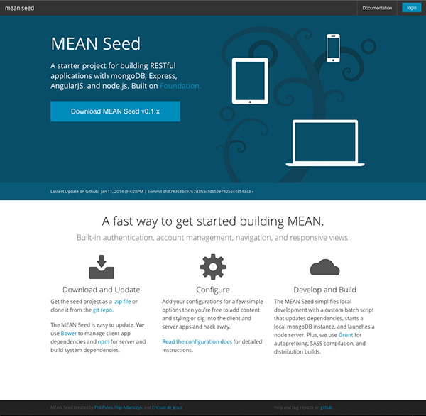 MEAN Seed Home